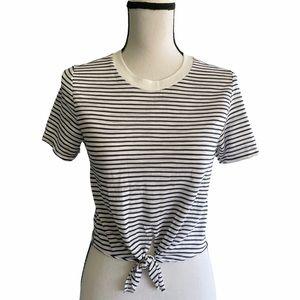 Topshop Striped Crop top. Size 2